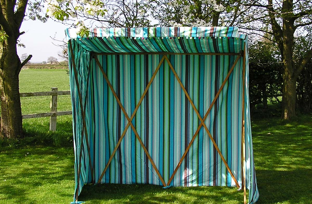 Sun Shelter COVER ONLY - Turquoise Stripe