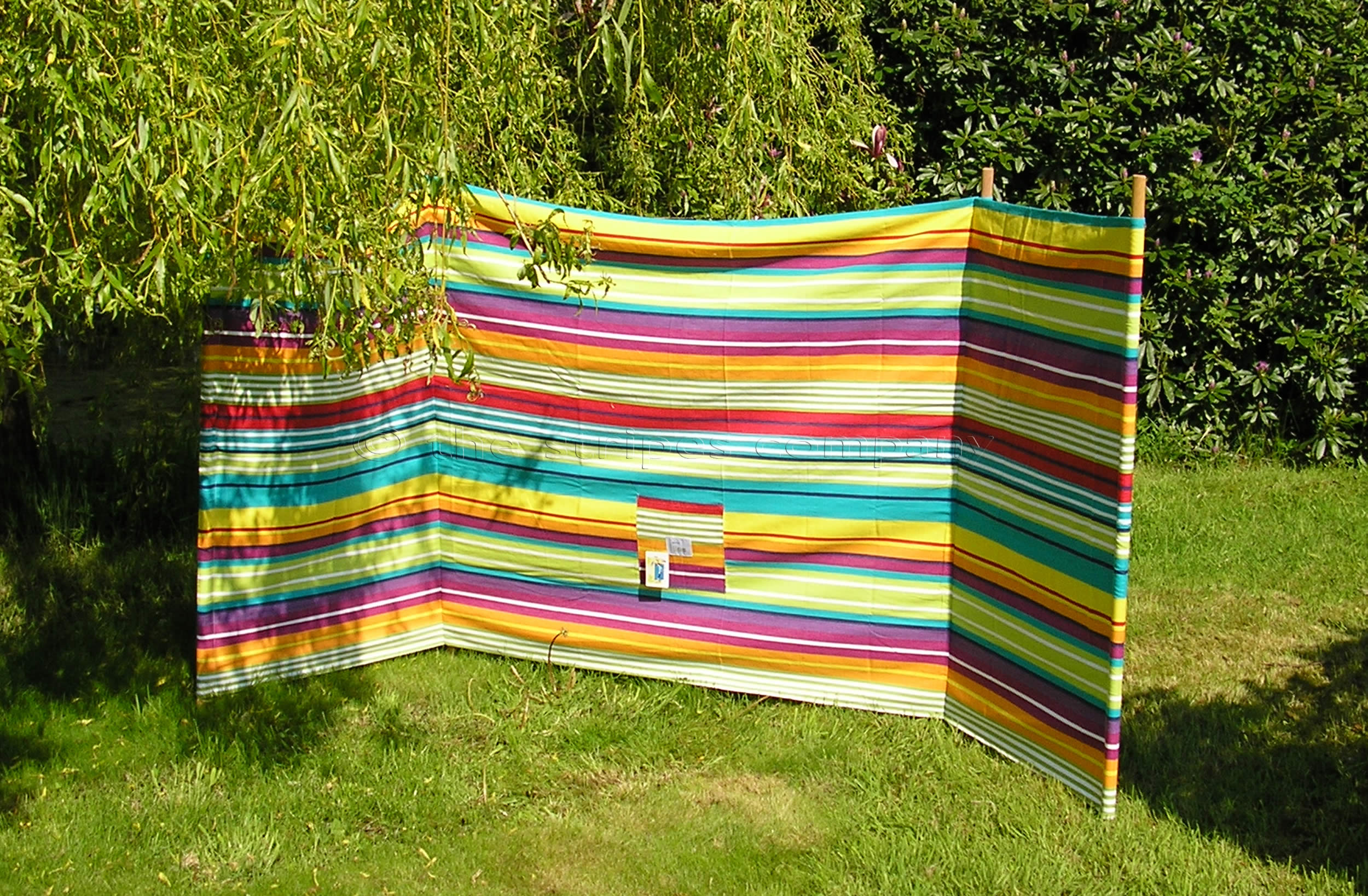 Turquoise Striped Windbreaks with 4 poles Aerobics Stripe