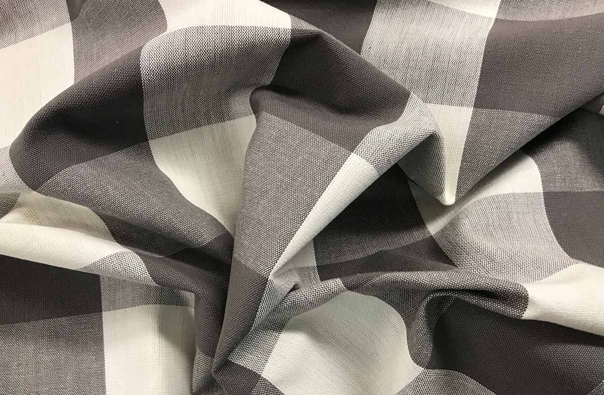 Grey Gingham Large Check Fabrics