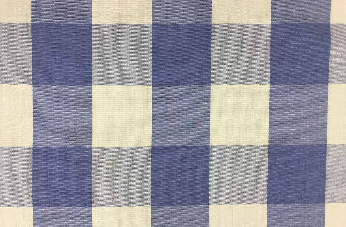 Lavender Blue And White Large Check Gingham Fabric The