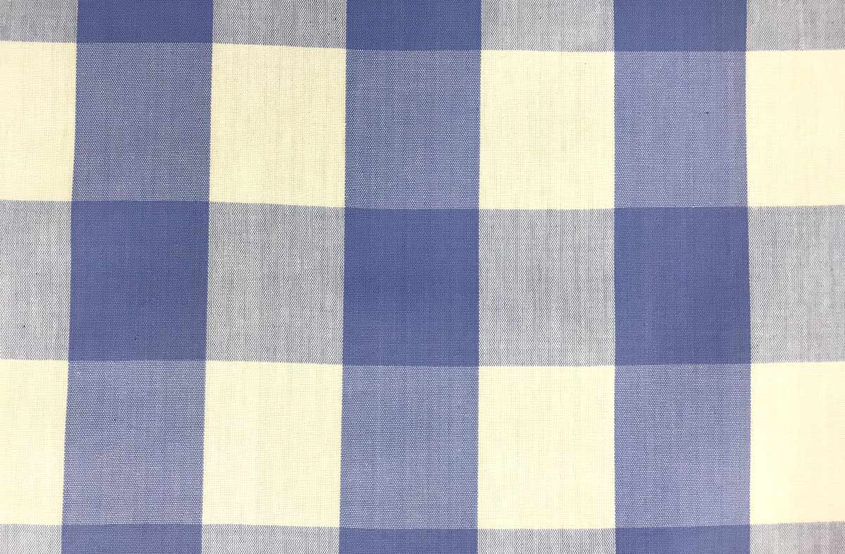 Lavender Blue and White Gingham Oilcloth Fabric Large Check