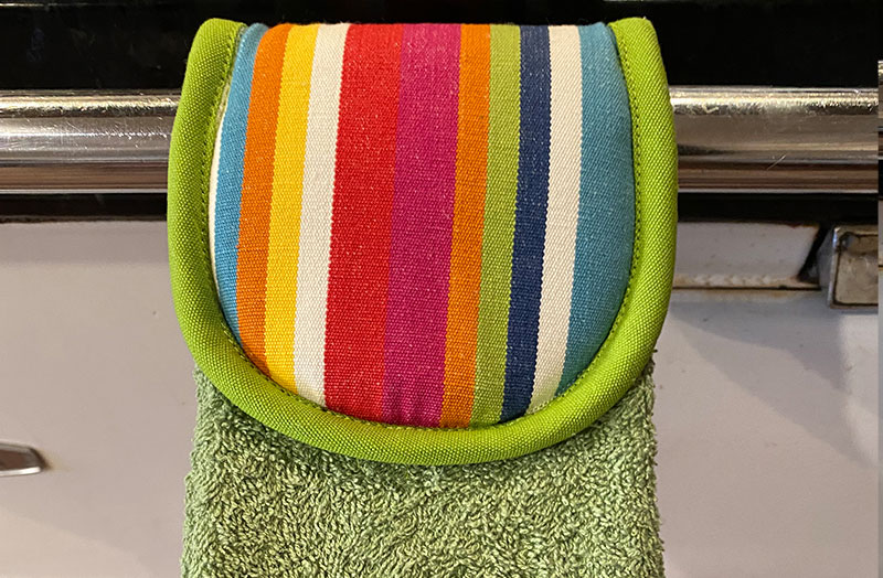 Green Aga Towels | Green Hanging Hand Towels for Ranges