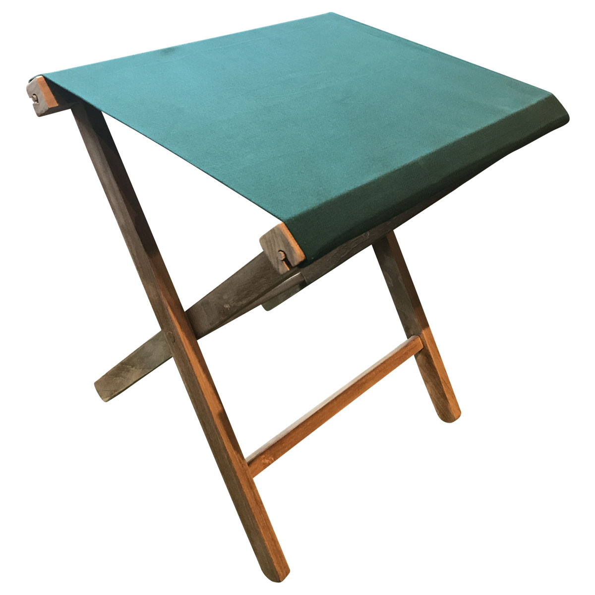 dark green- Portable Folding Stools with Striped Seats