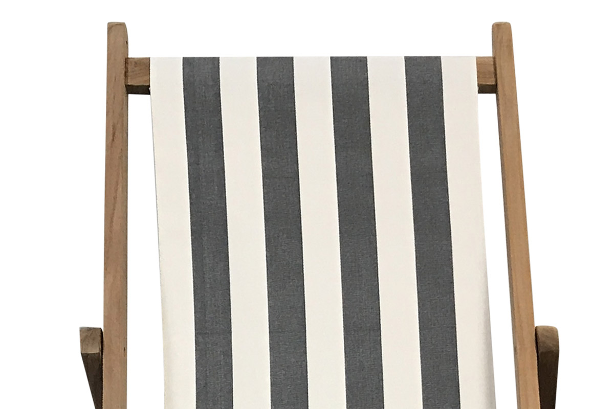 charcoal, white- Deckchairs | Buy Folding Wooden Deck Chairs