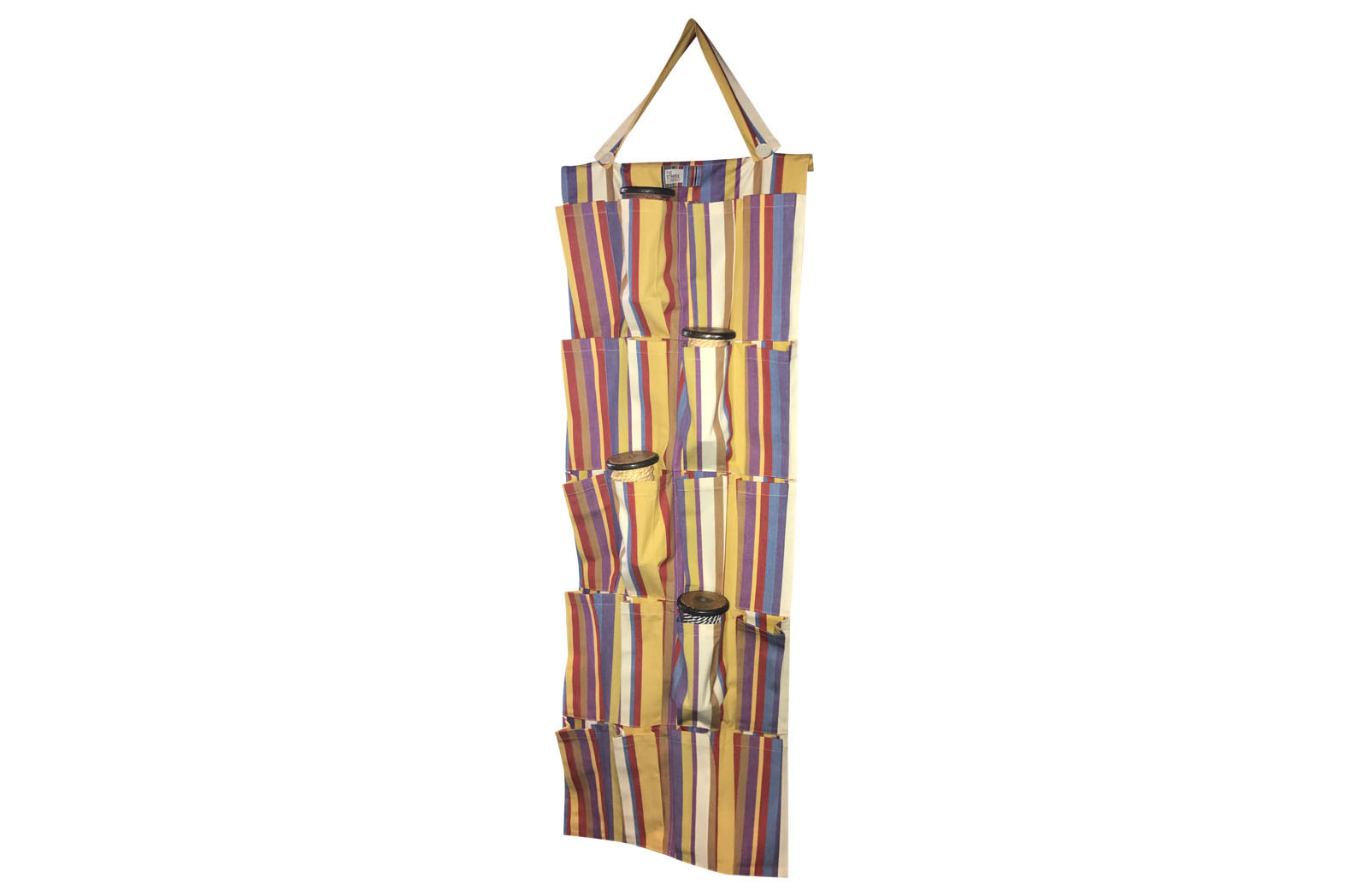 apricot, rust, blue - Hanging Pocket Organisers | Hanging Storage Organiser Tidy