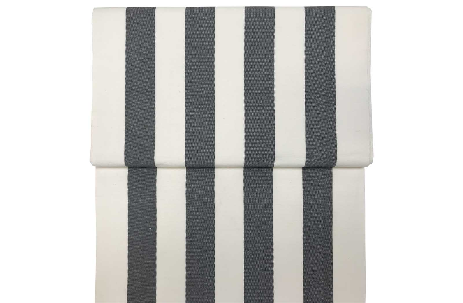 Grey and White Stripe Deckchair Fabric