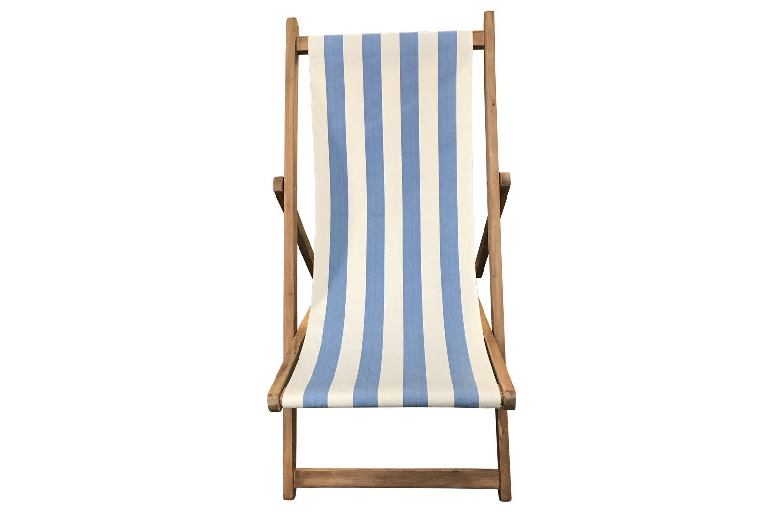 Sky blue and white- Deckchairs | Buy Folding Wooden Deck Chairs
