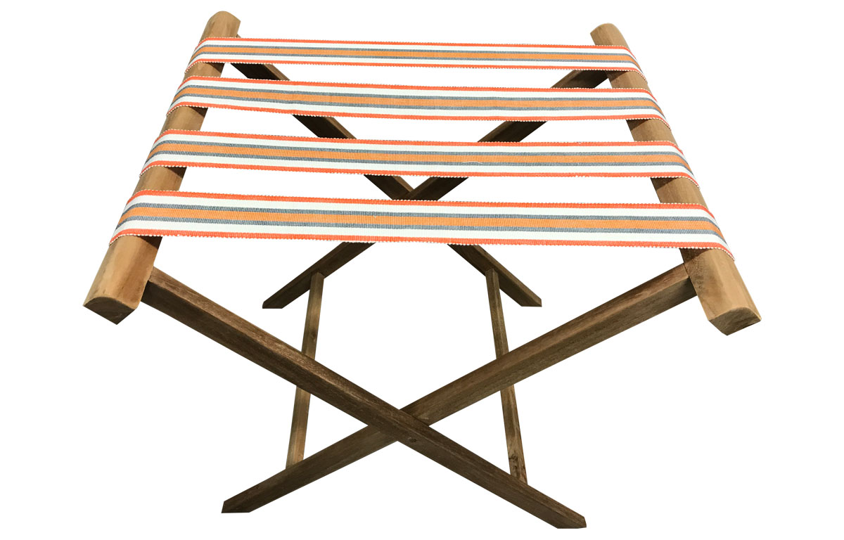 Jig Orange  Folding Wooden Luggage Rack