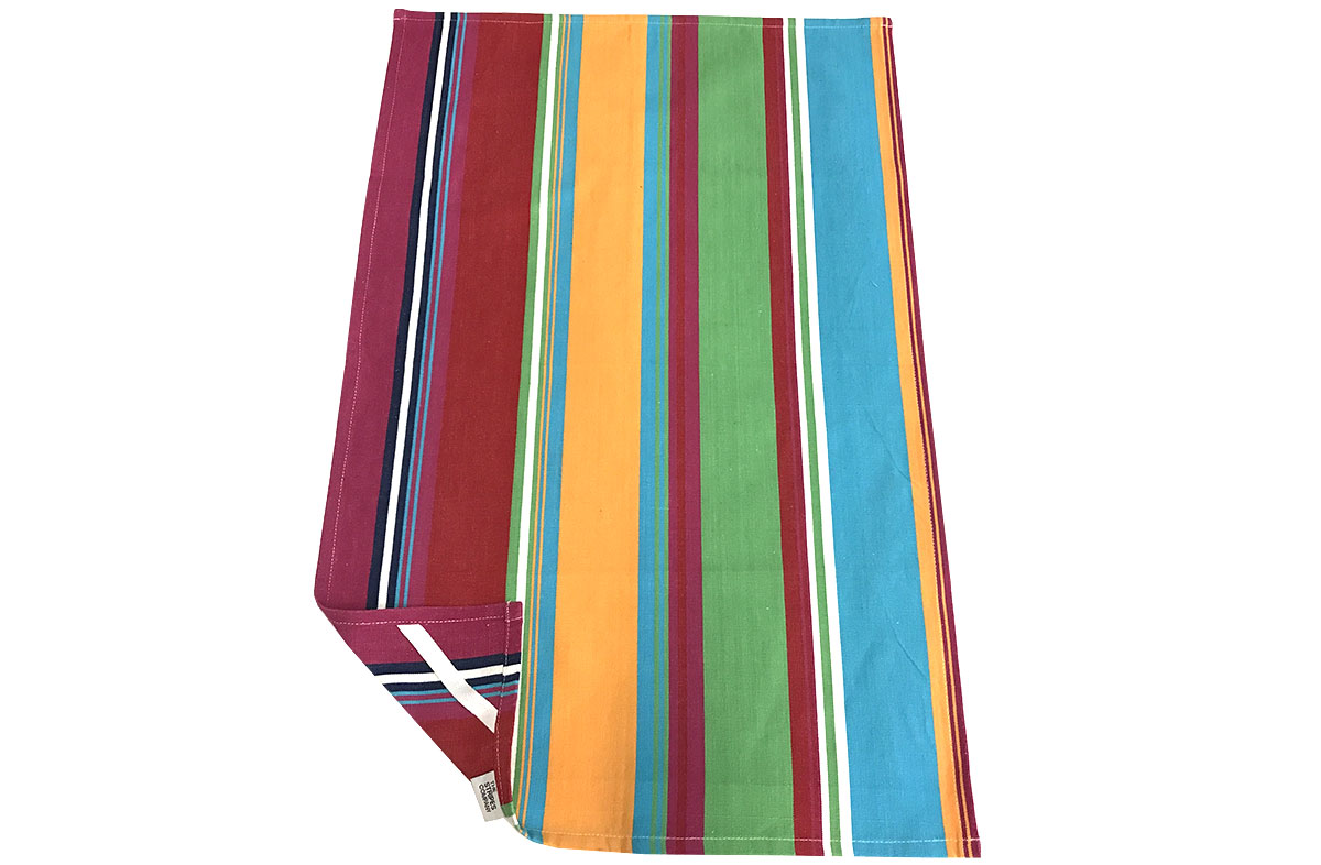 Pink Stripe Tea Towels | Striped Teatowels Karting Pink Stripe