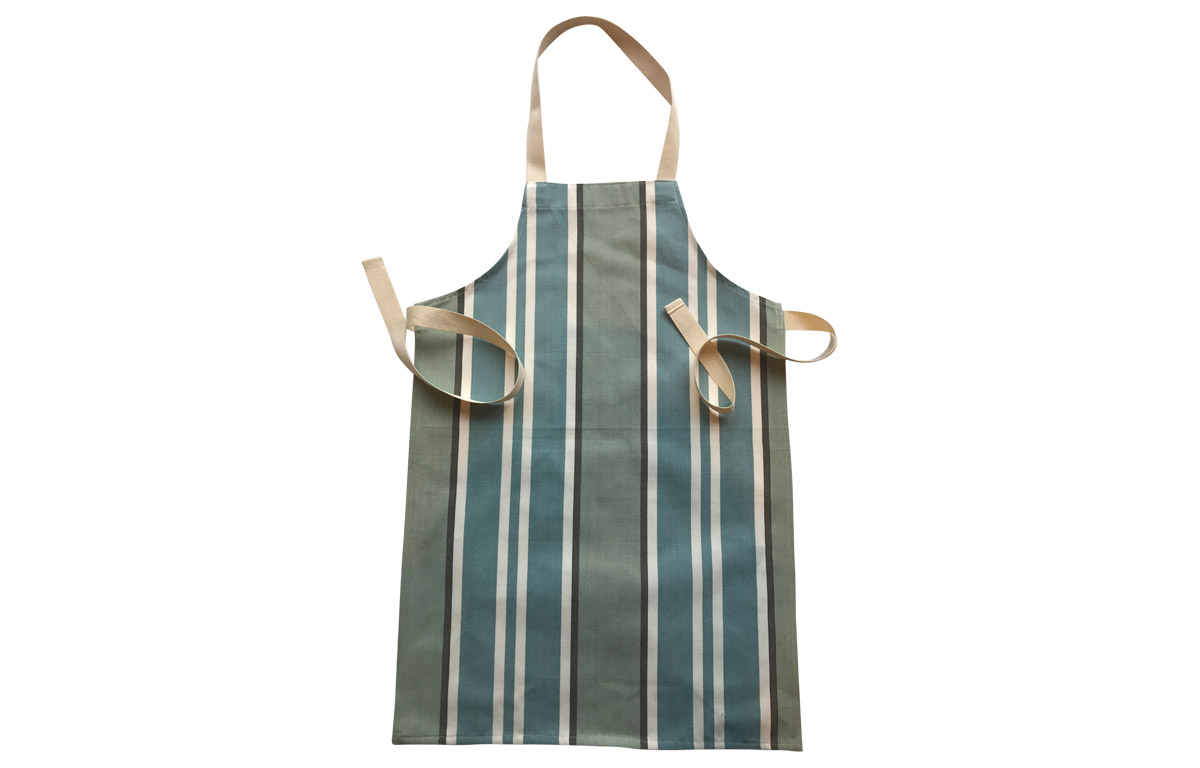 Teal, Aqua, Grey Striped Kids Aprons | Aprons for Children