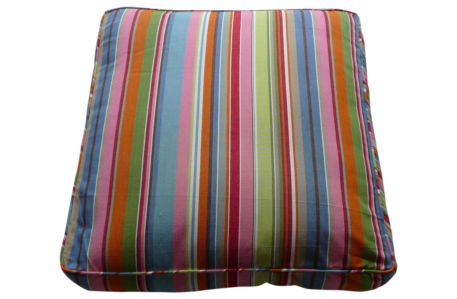 Large Blue And Pink Stripe Floor Cushions