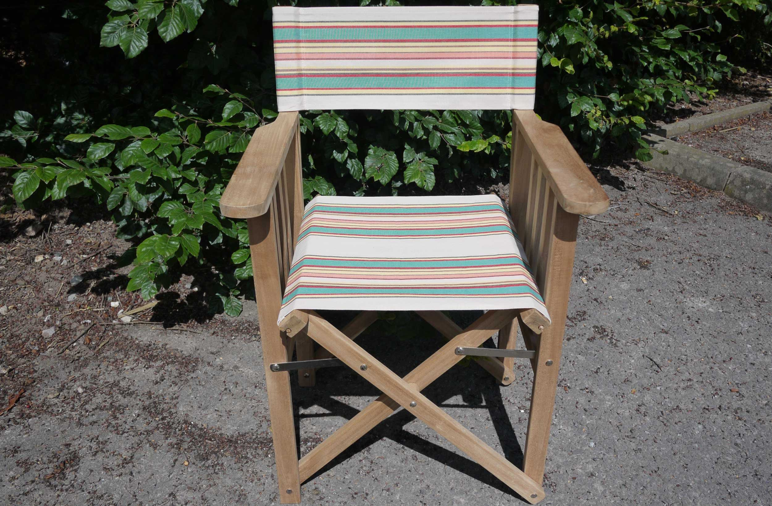 Vintage Striped Directors Chair