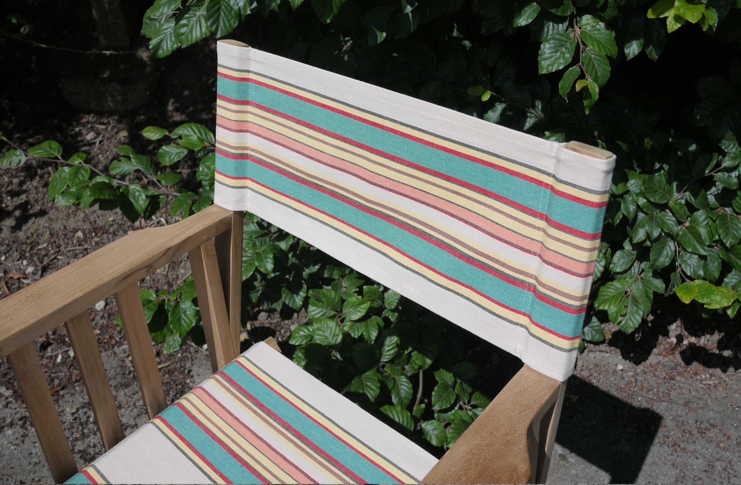 Vintage Striped Directors Chair The Stripes Company Uk