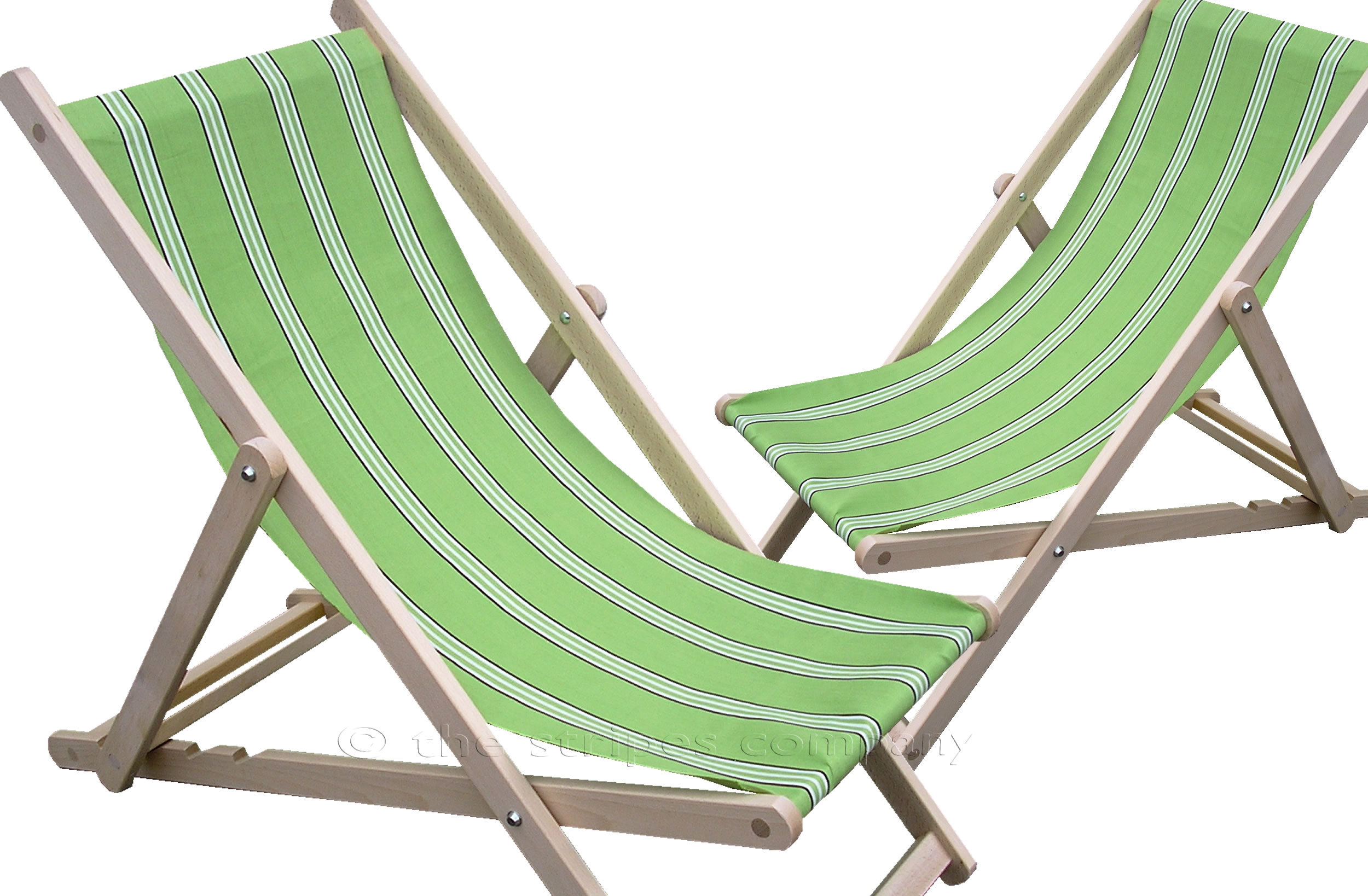 Lime green Deckchairs | Wooden Folding Deck Chairs Sprinting Stripes