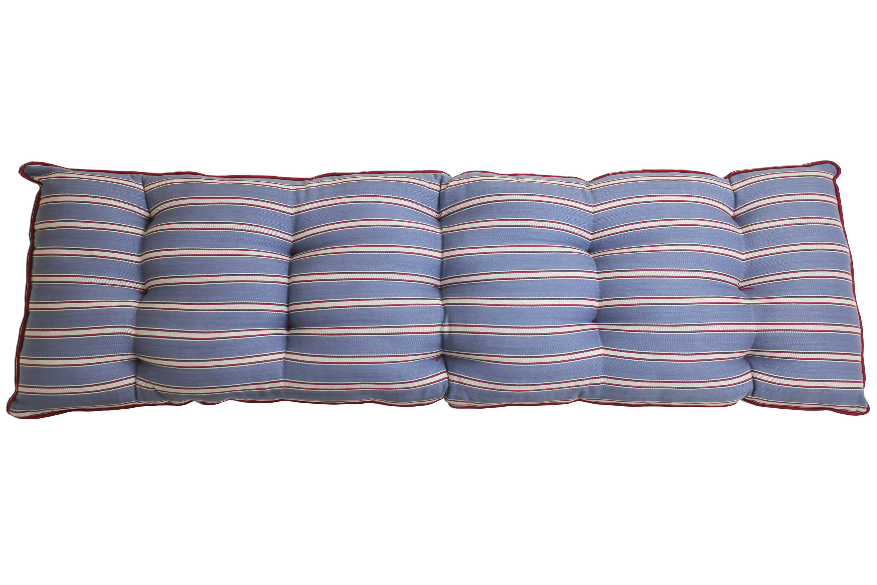 Blue Red Long Bench Cushions