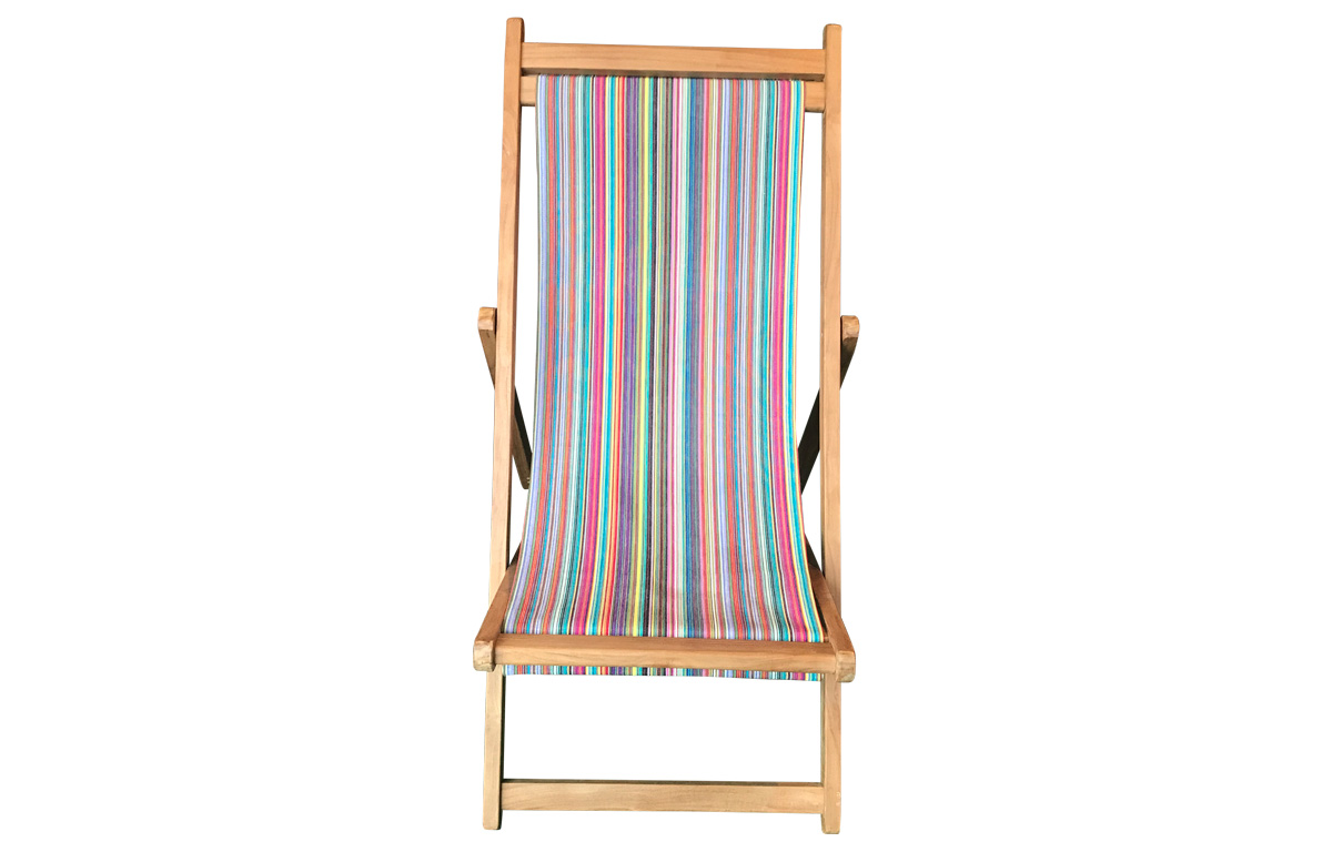 Multi Stripe Premium Deck Chair