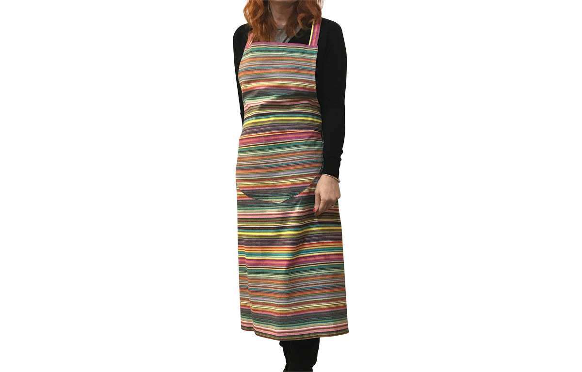 c3ee5589ca1 Multi Striped Apron thin rainbow multi stripes