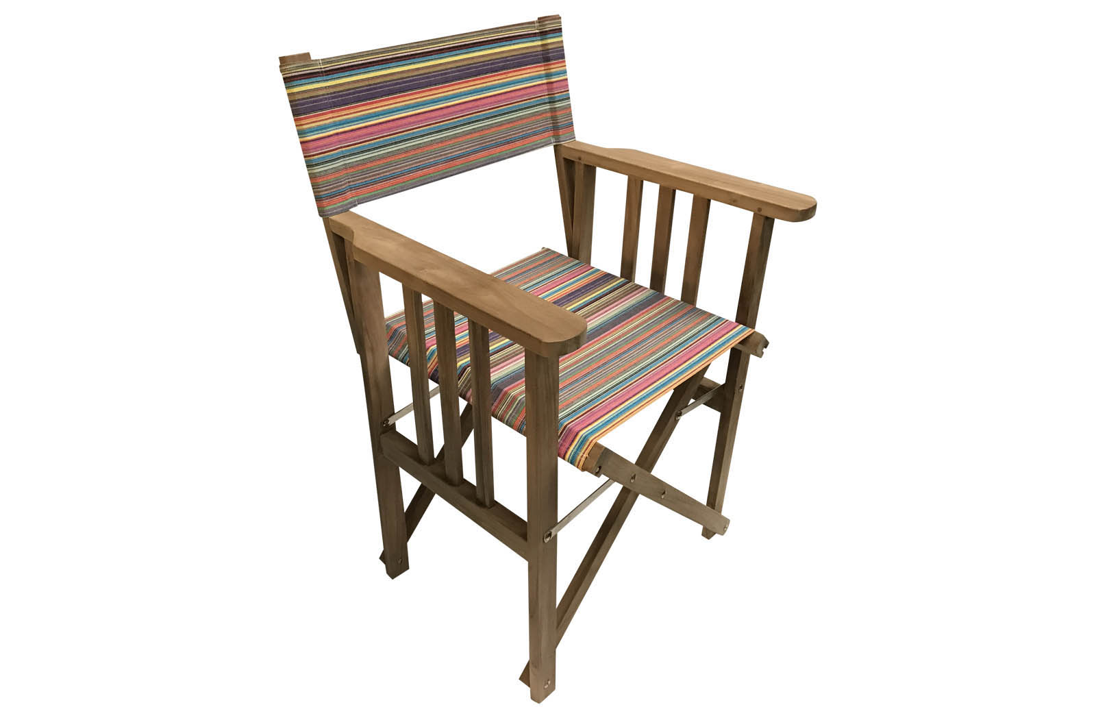 thin rainbow multi stripes - Directors Chairs