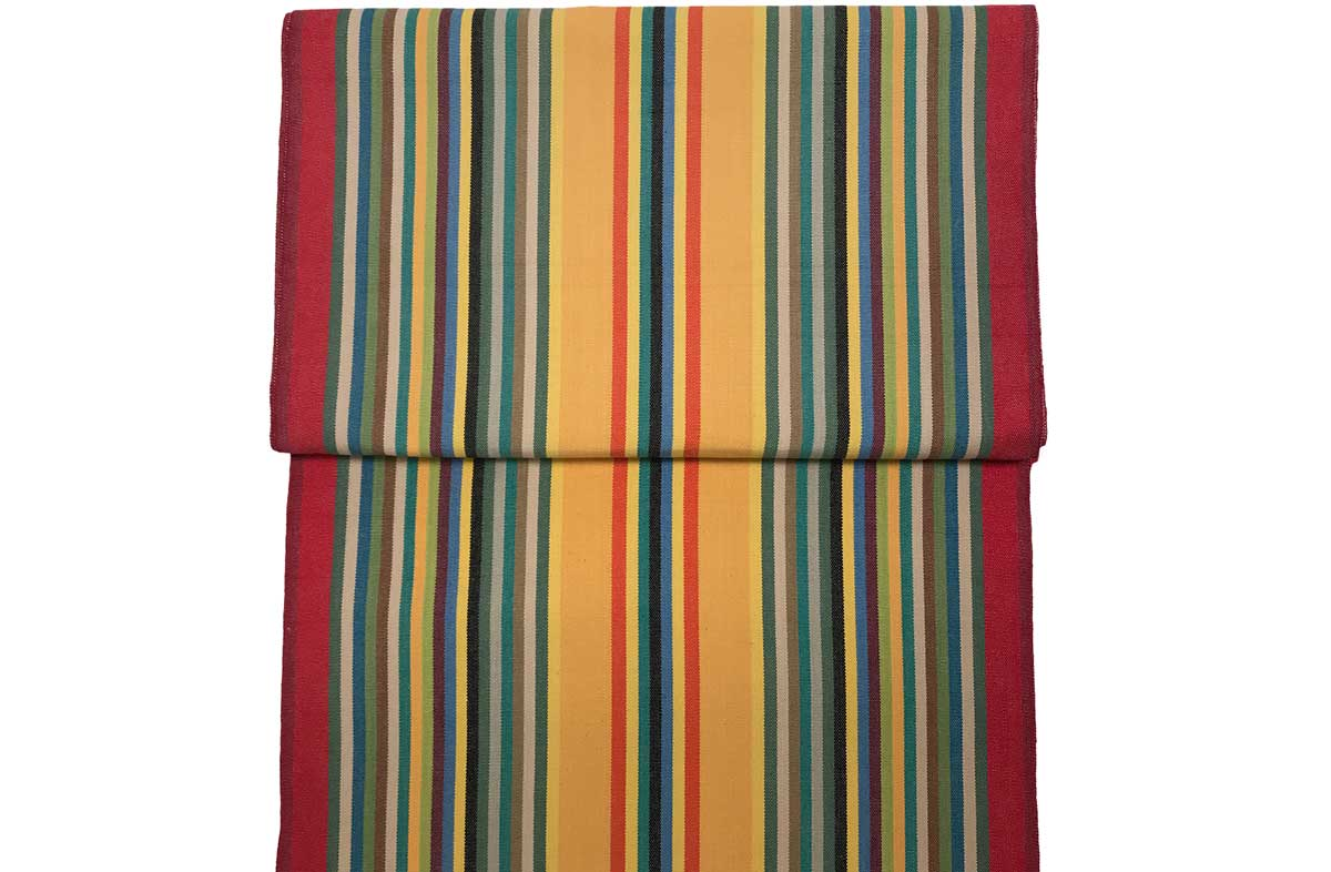 Vintage Deckchair Fabric Medley of colours in narrow stripes