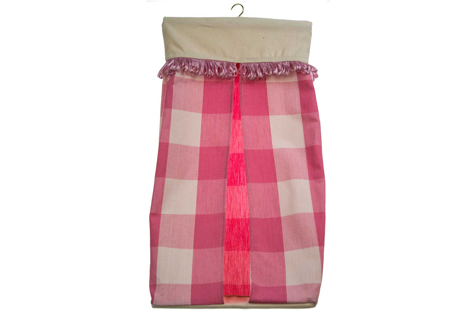 Pink Check Nappy Stacker
