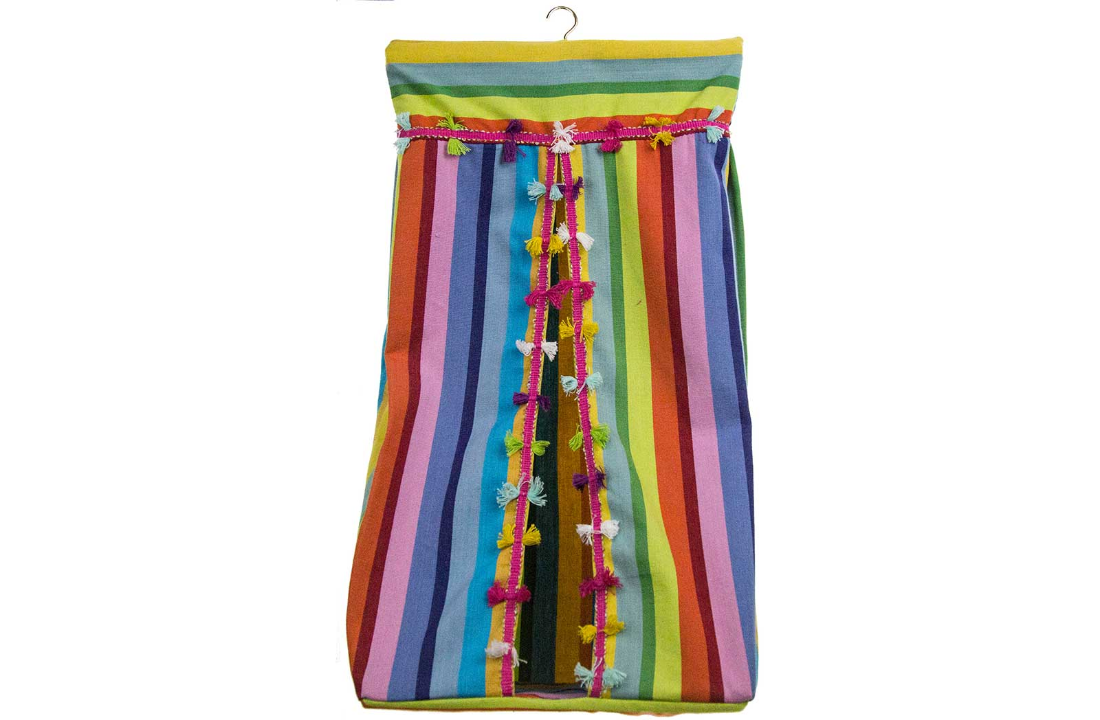 Stripe Nappy Stacker in rainbow stripes