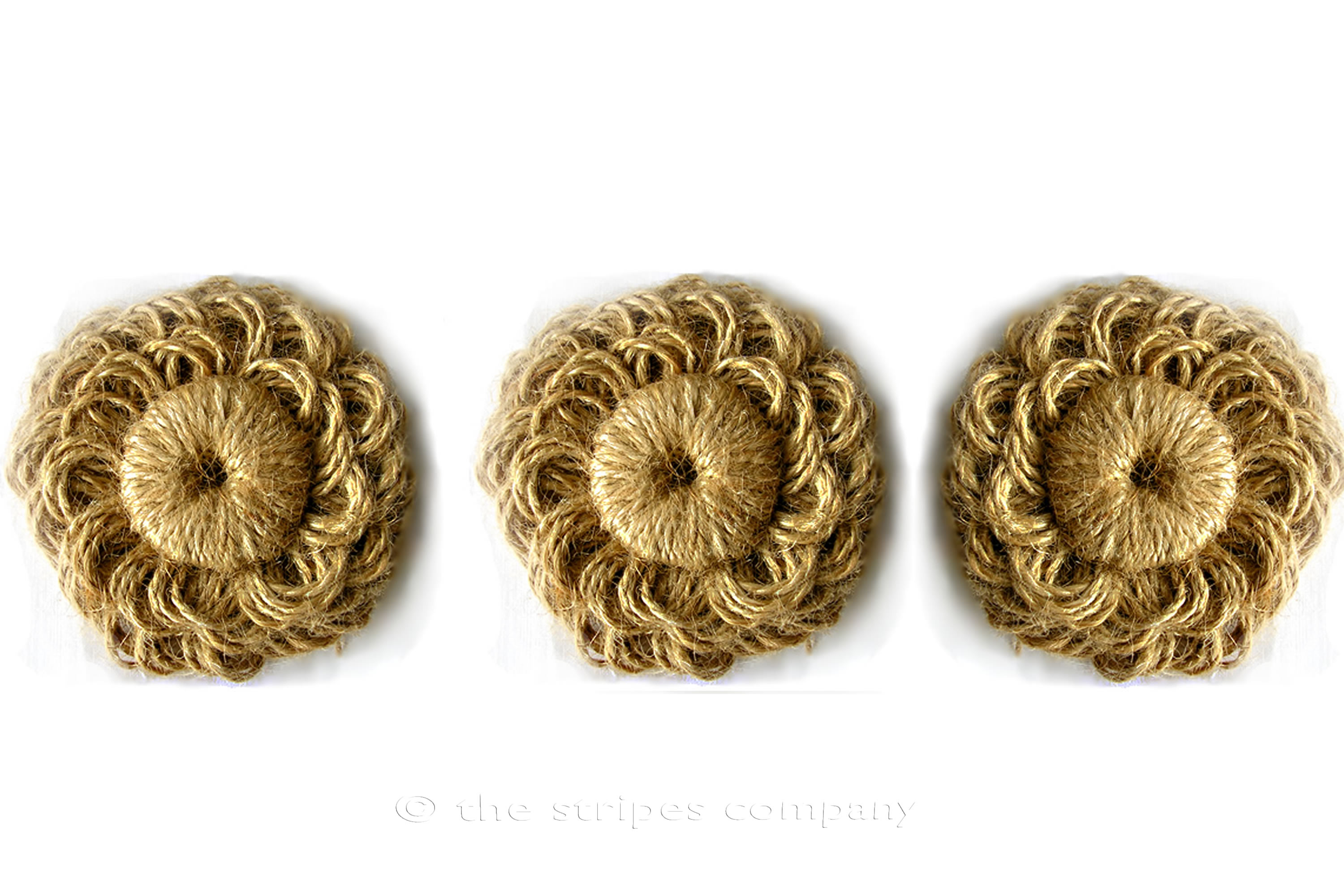 Natural Jute Flower Rosettes - Fabric Flowers - Fabric Rosettes