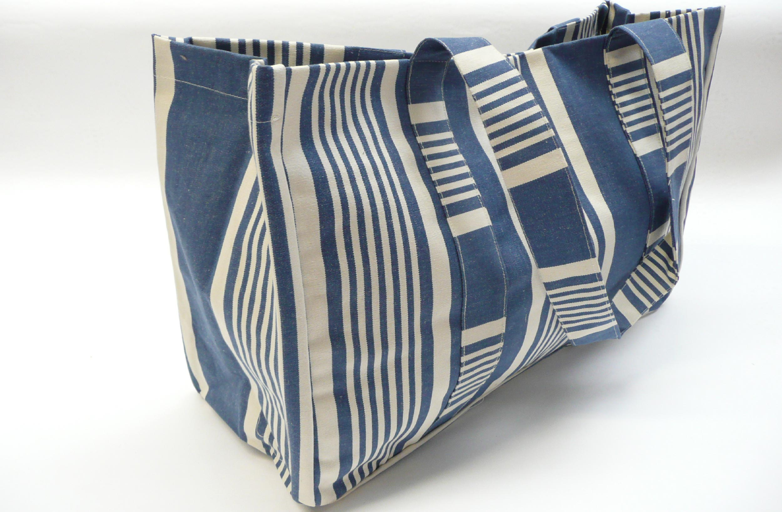 Navy Ivory Blue Extra Large Beach Bags