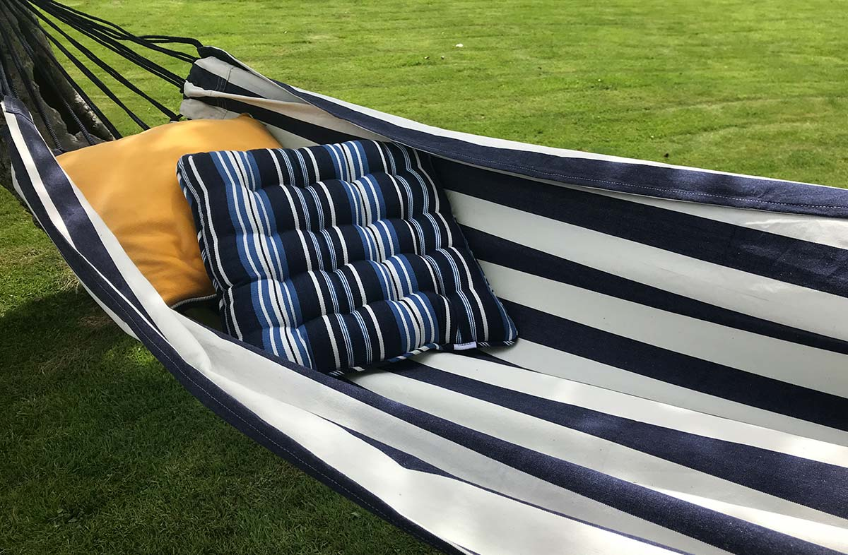 Navy Blue and White Stripe Hammocks