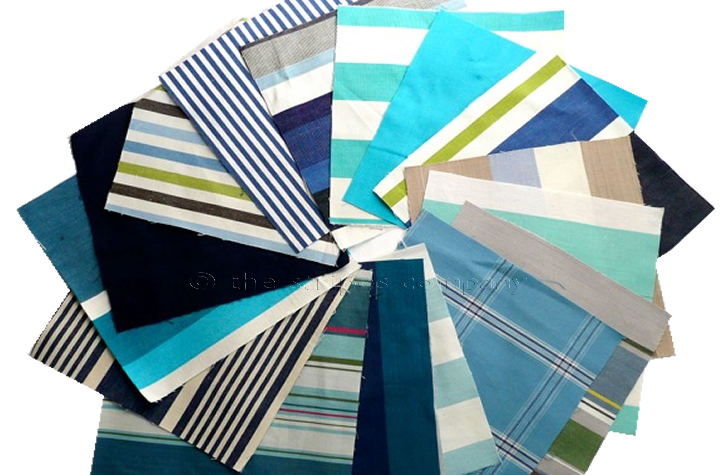Blue Patchwork Fabric Squares | Quilting Fabric Squares Blue