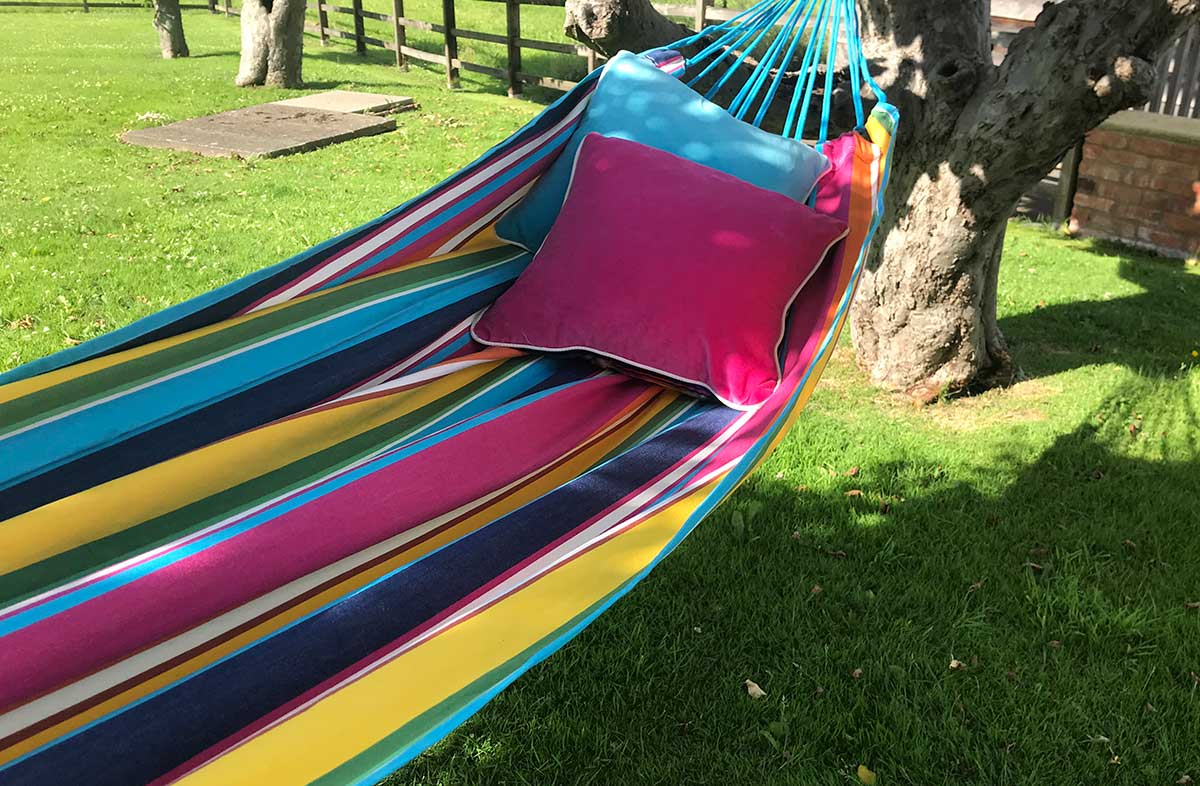 Colourful Stripe Hammocks | Pink, Navy, Turquoise Hammocks