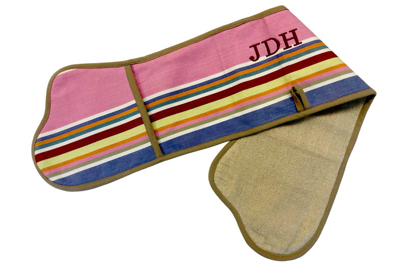 Striped Oven Gloves - Add Personalisation Per Initial