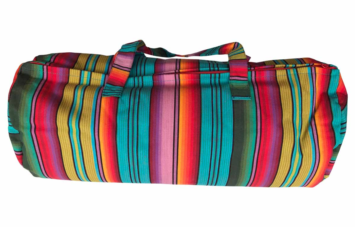 Snorkelling Striped Quilted Picnic Mat with Bolster Carry Bag
