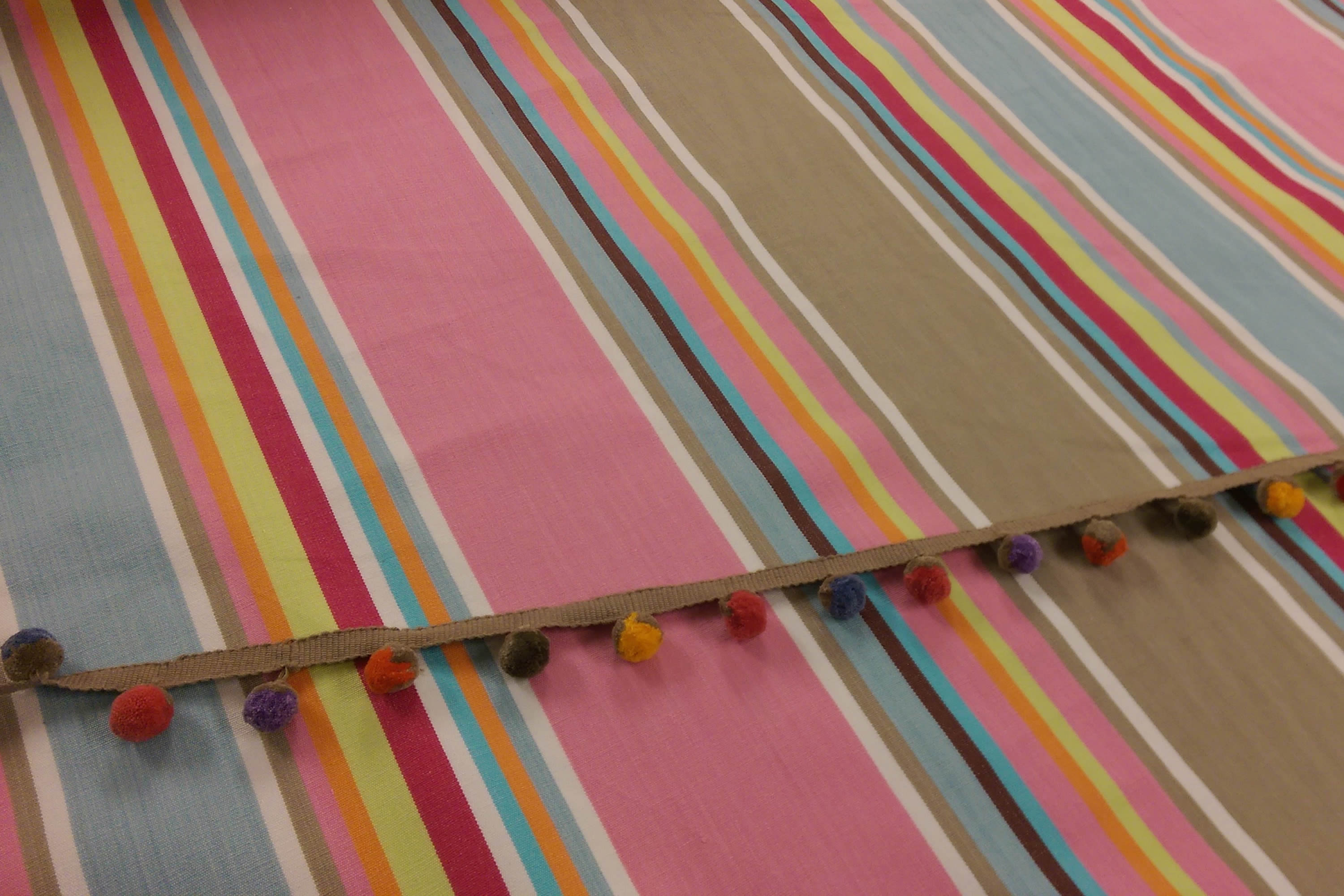 Squash Pink Striped Fabric The Stripes Company Uk
