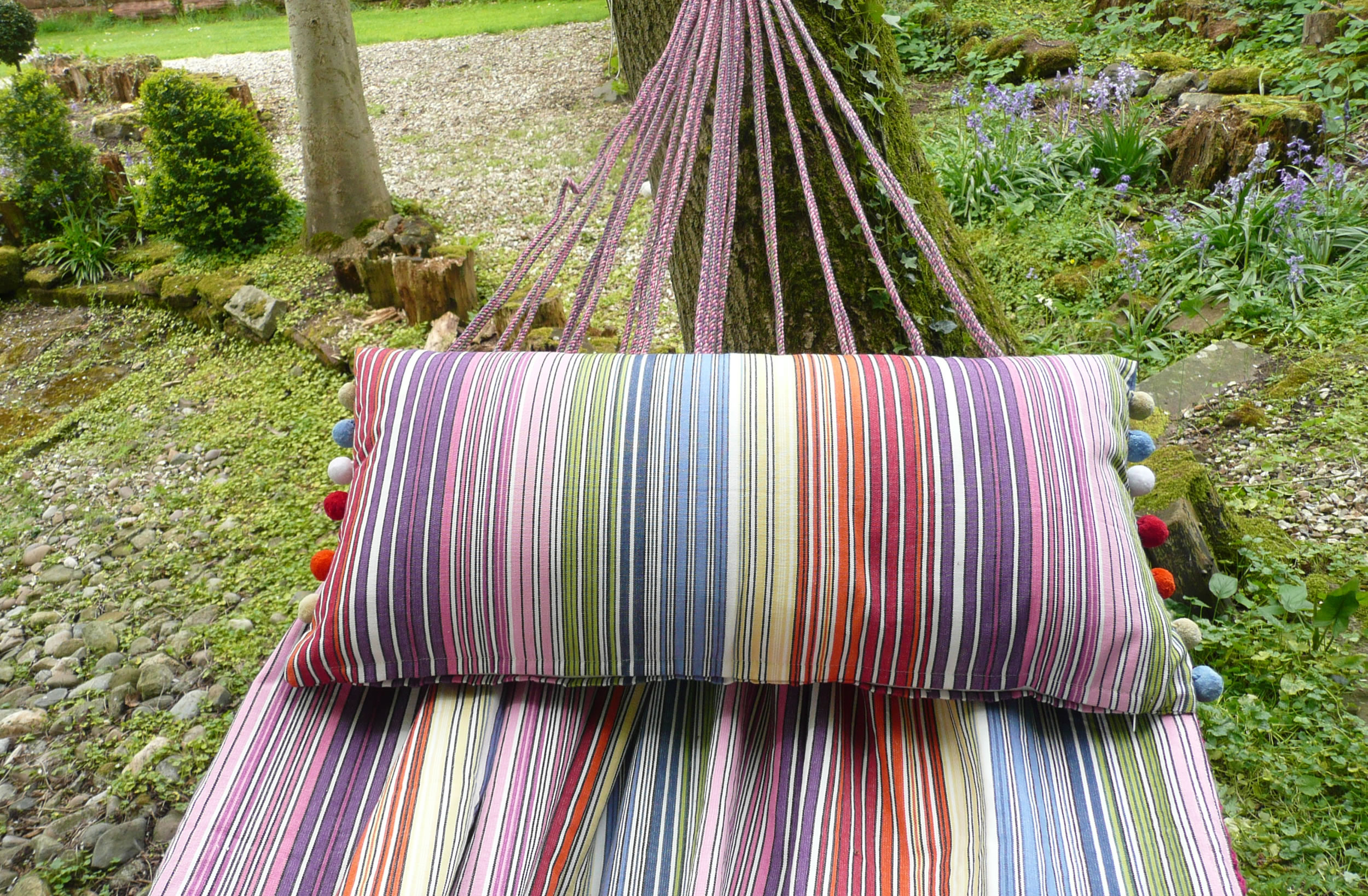 Rainbow Multi Stripe Hammocks | Garden Hammocks  Rhumba Stripe