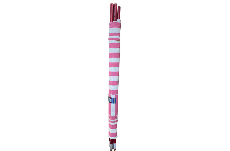 Pink and White Stripe Beach Windbreaks
