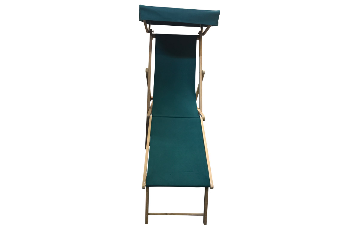dark green- Edwardian Deckchairs with Canopy and Footstool