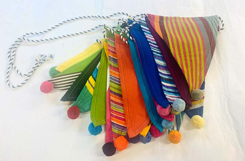 Rainbow Bunting with Pompoms  Kit