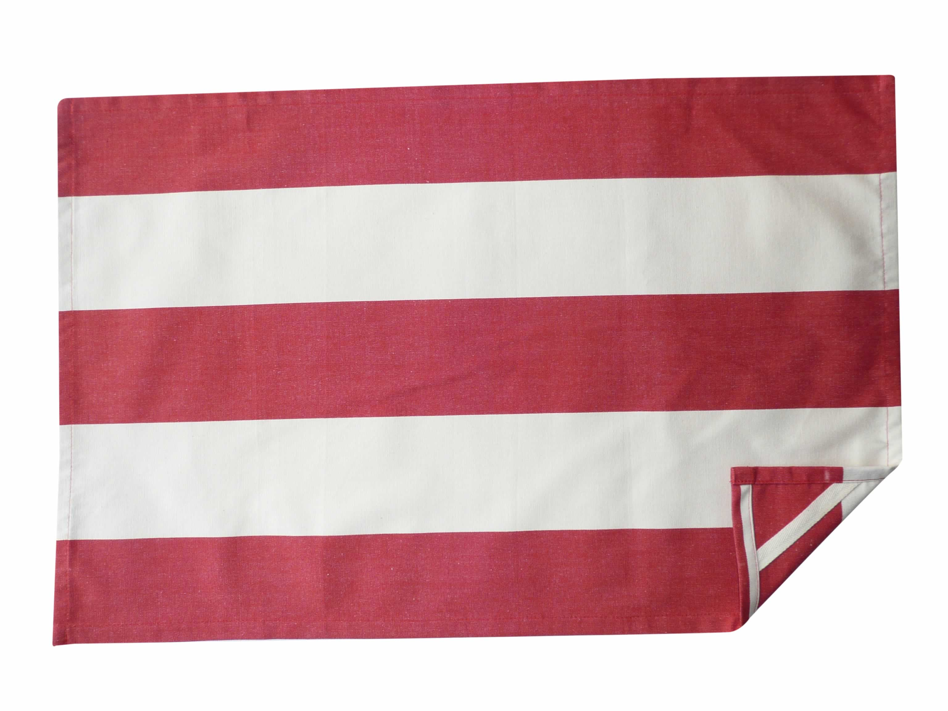 red, ivory- Stripe Tea Towels | Striped Teatowels