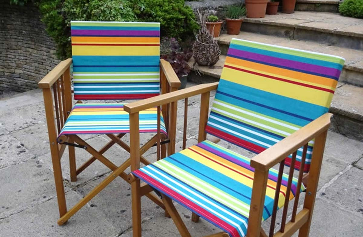 Replacement Director Chair Covers In Bright Stripe