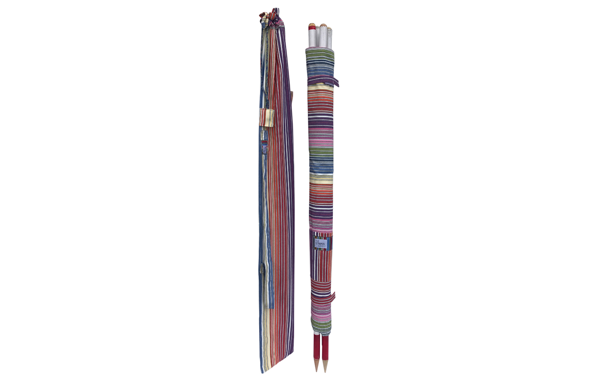 Rainbow Pinstripe Beach Windbreaks from The Stripes Company