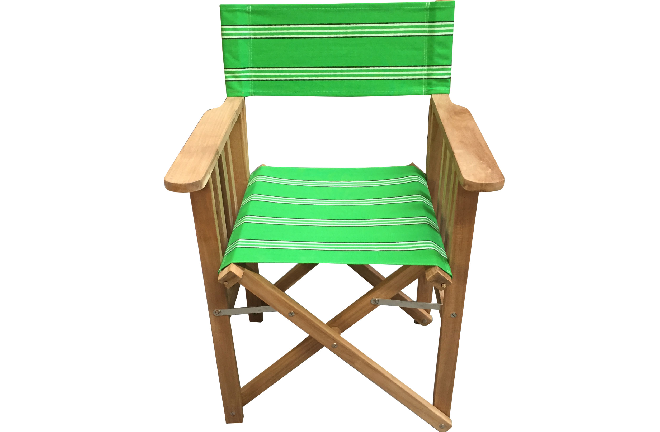 Emerald Green Directors Chair   Rounders Stripe