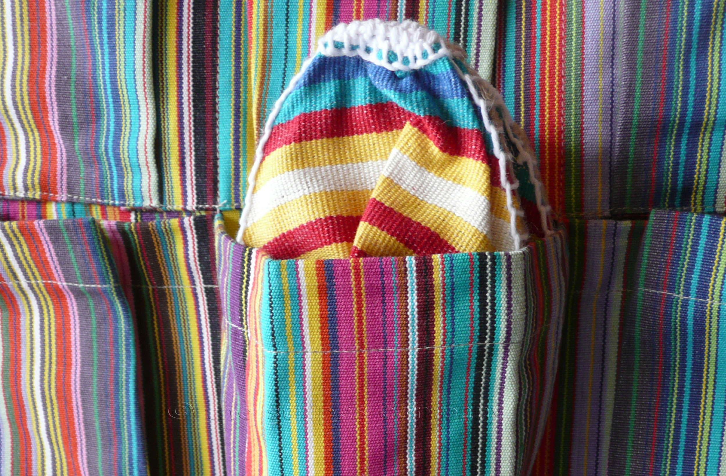 thin rainbow multi stripes - Hanging Pocket Organisers | Hanging Storage Organiser Tidy