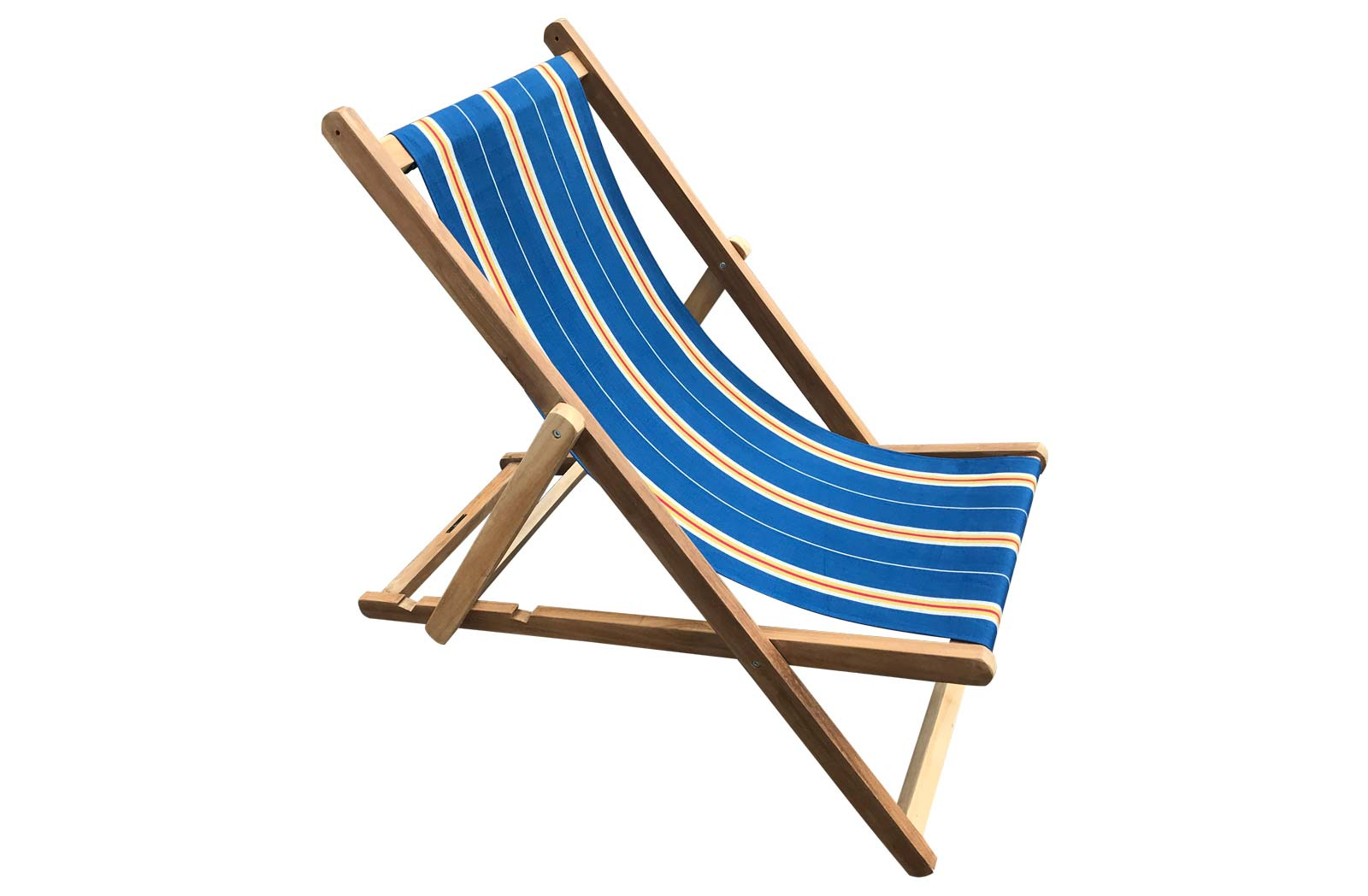 Navy blue, off white, gold Deckchair