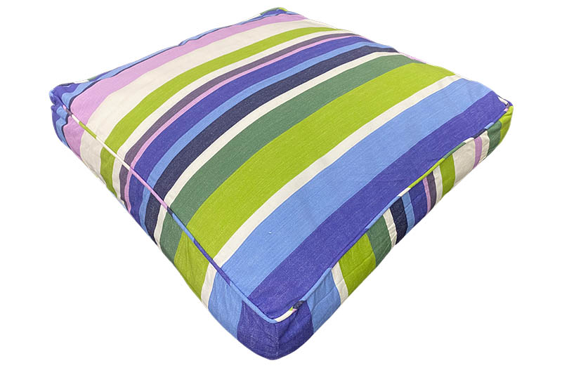 Large Floor Cushions Green, blue, purple