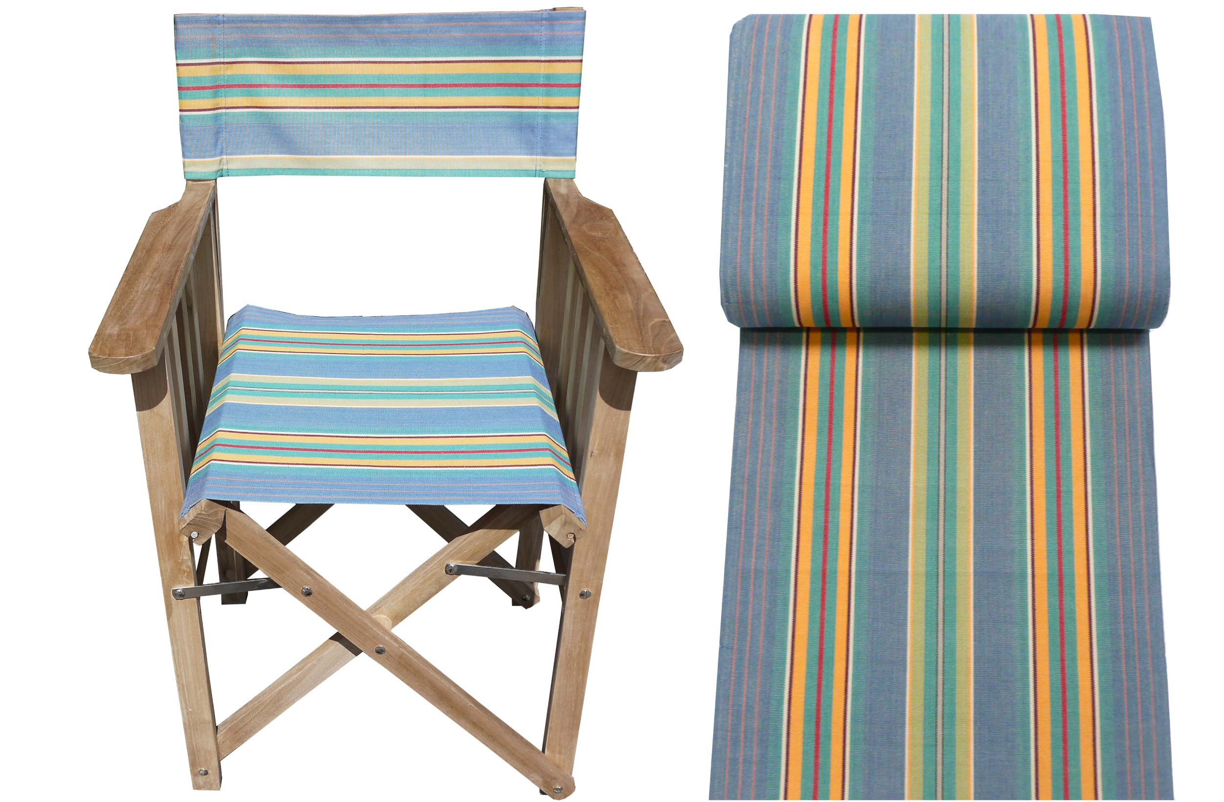 Sky blue, jade green- Directors Chairs