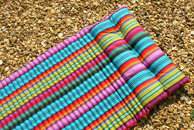 Snorkelling Beach Mattress - Multi Stripe Beach Mat