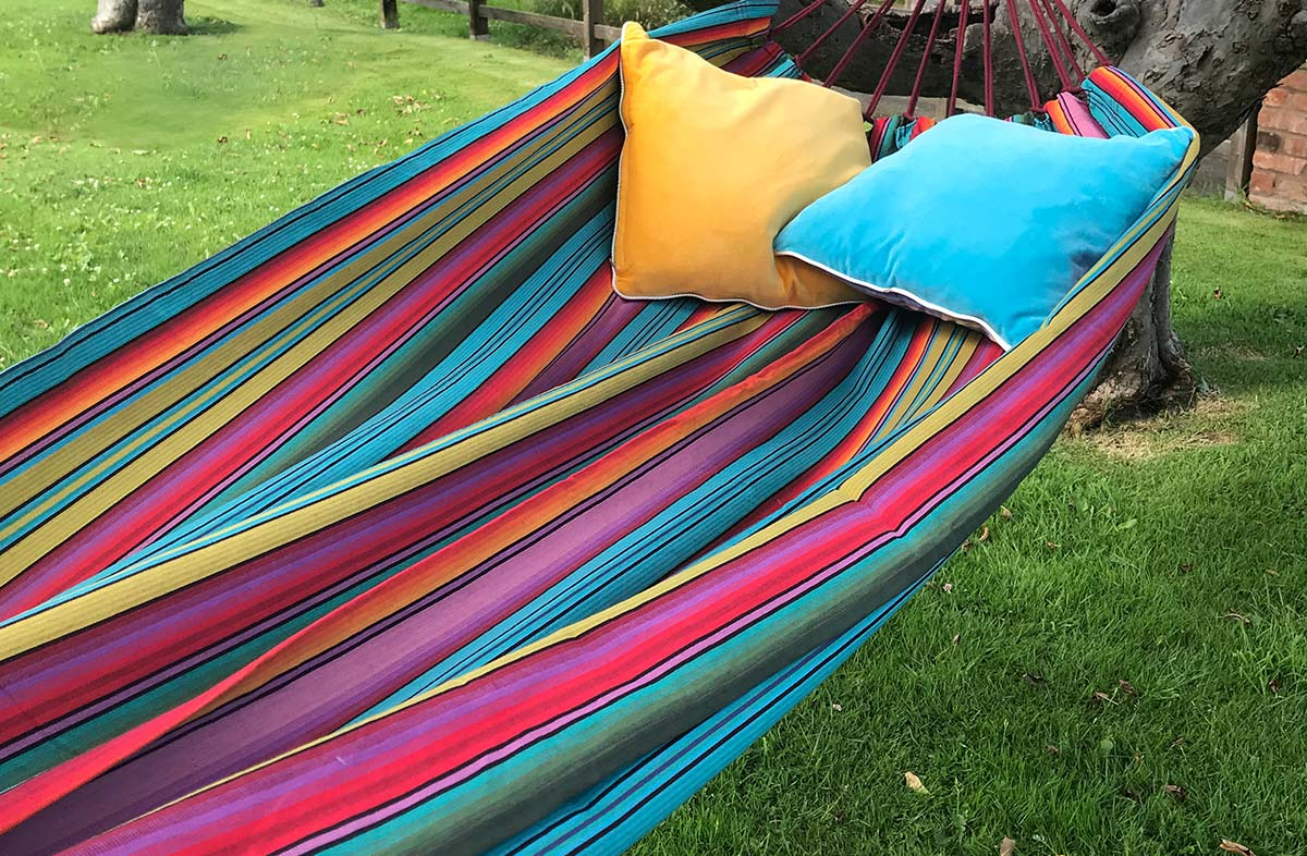 Vibrant Striped Hammock from The Stripes Company