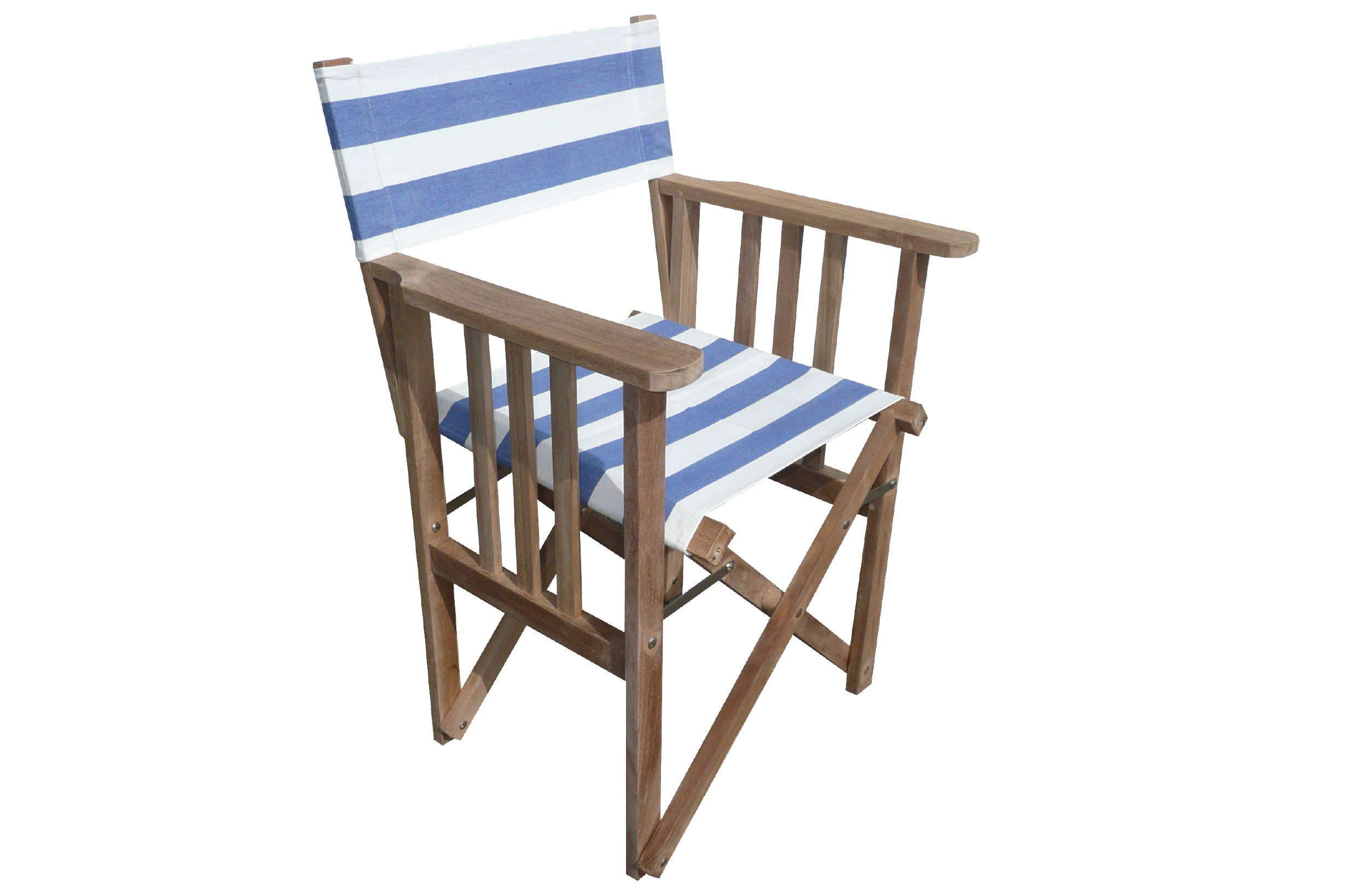 Blue and White Striped Directors Chairs - Soccer