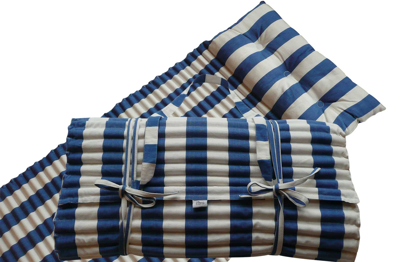 Blue and White Stripe Beach Mattress