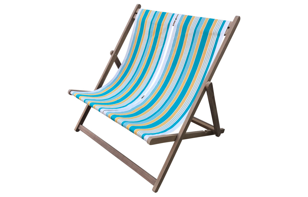 White, turquoise, yellow- Double Deckchairs